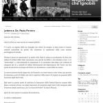 Lettera di Sforza Ruspoli all'on. Paolo Ferrero