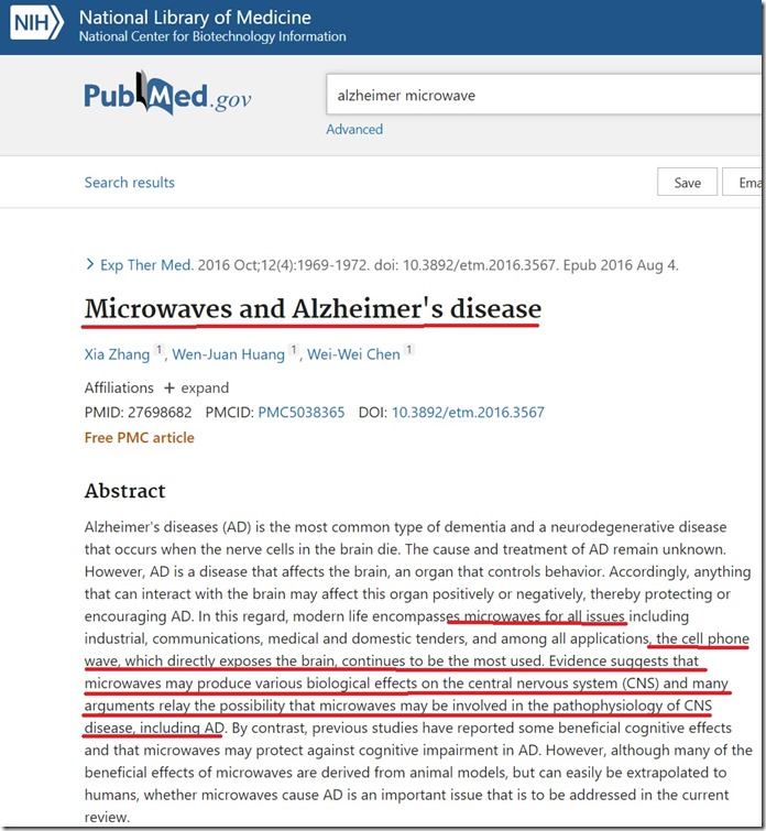 microonde Alzheimer
